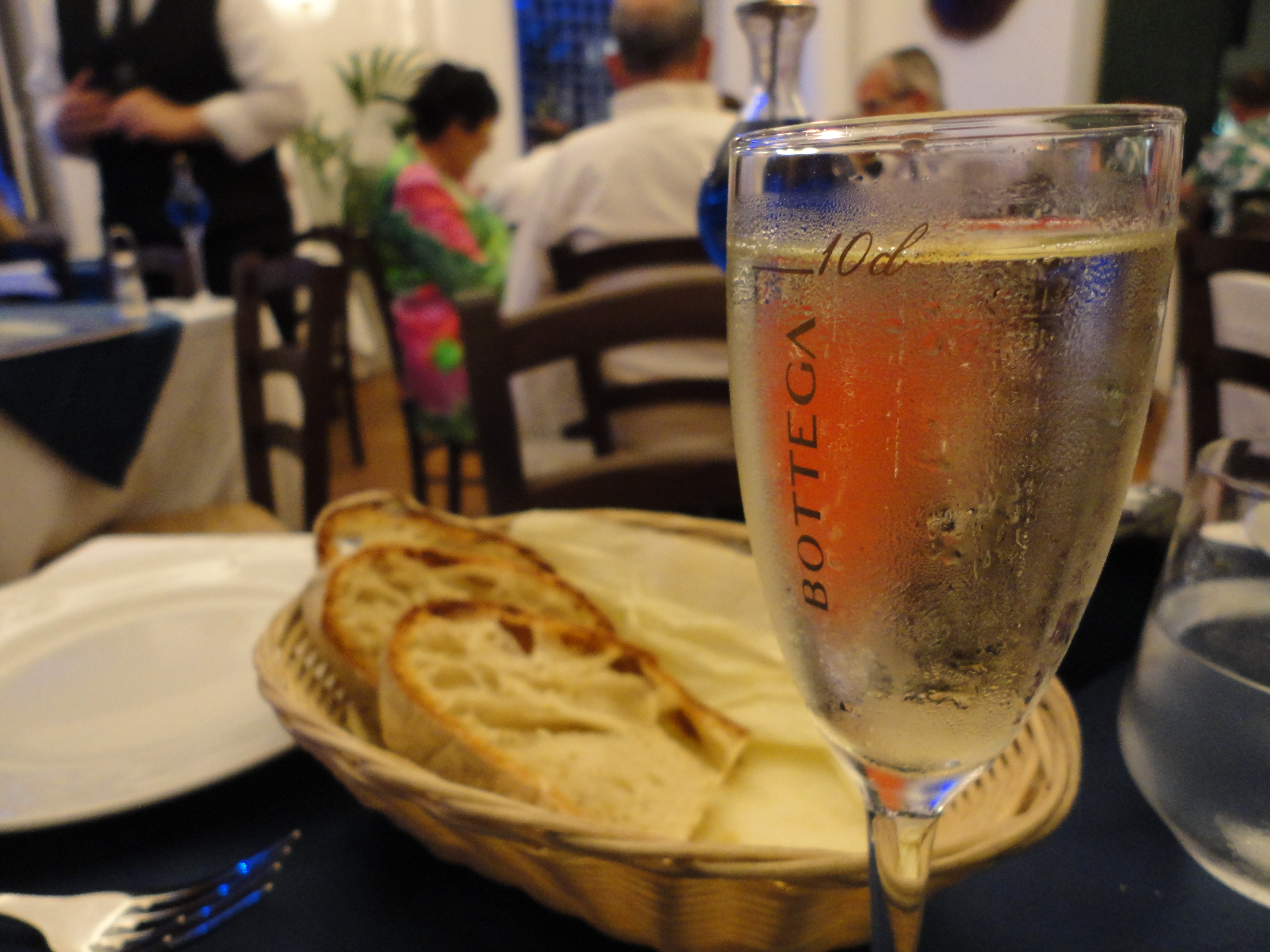 Drinking Prosecco in Sorrento
