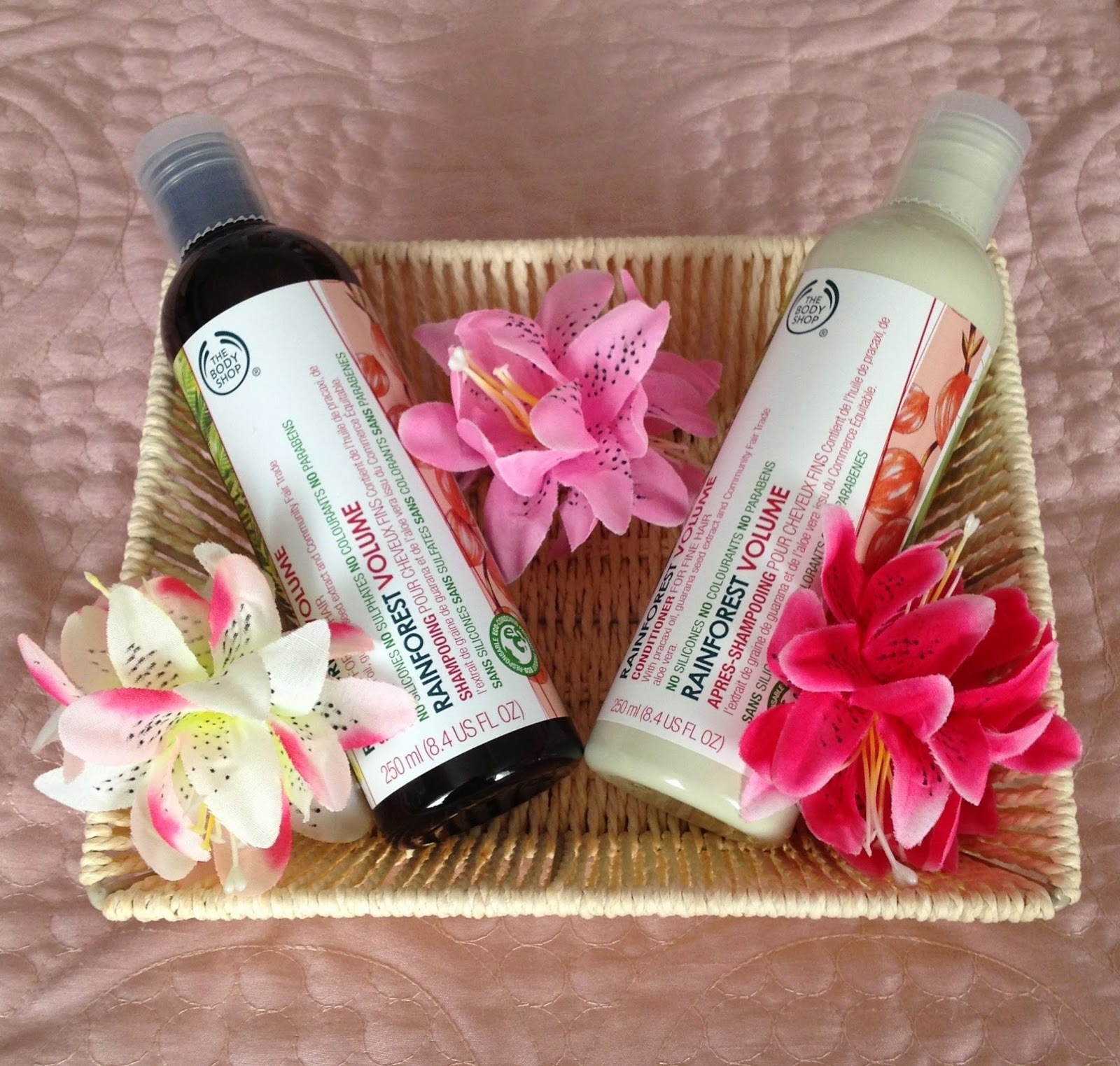 The Body Shop Rainforest Volumising Shampoo and Conditioner