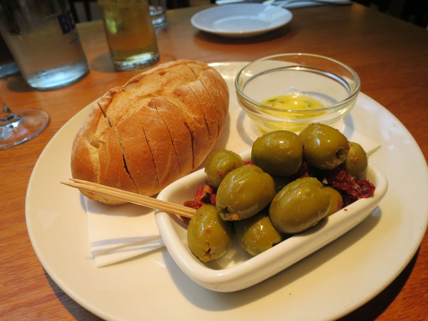 The Swan Salford Review - Bread and Olives