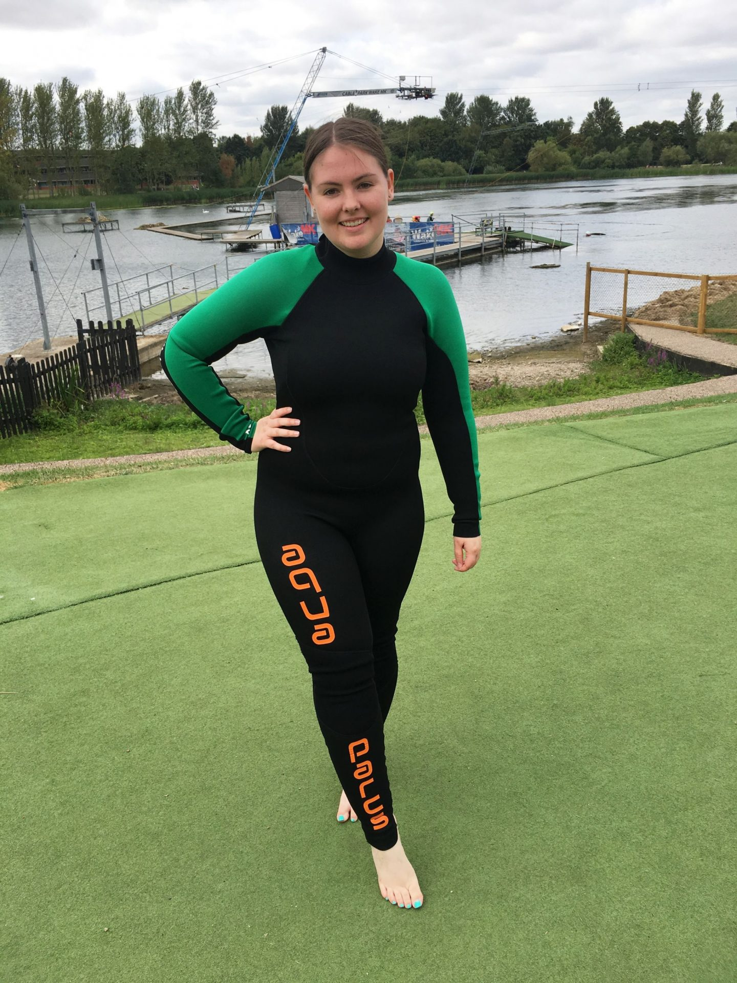 Me in a wesuit at Aqua Parcs Willen Lake Milton Keynes