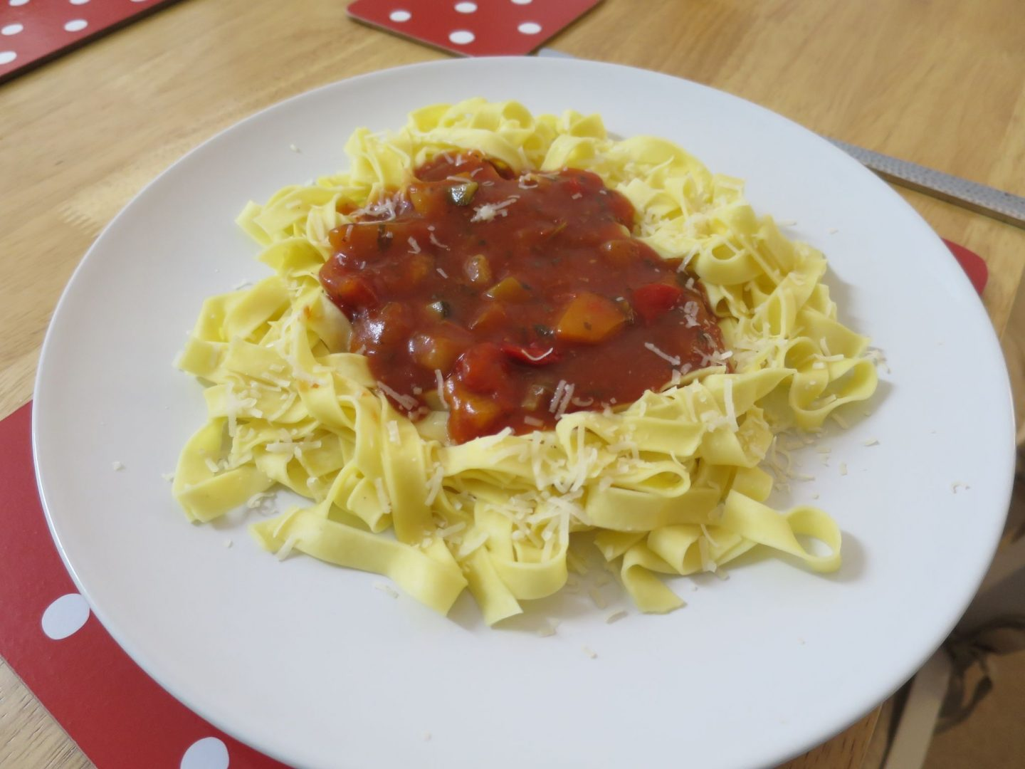 Marks and Spencer Fresh Tagliatelle and Chunky Vegetable Pasta Sauce