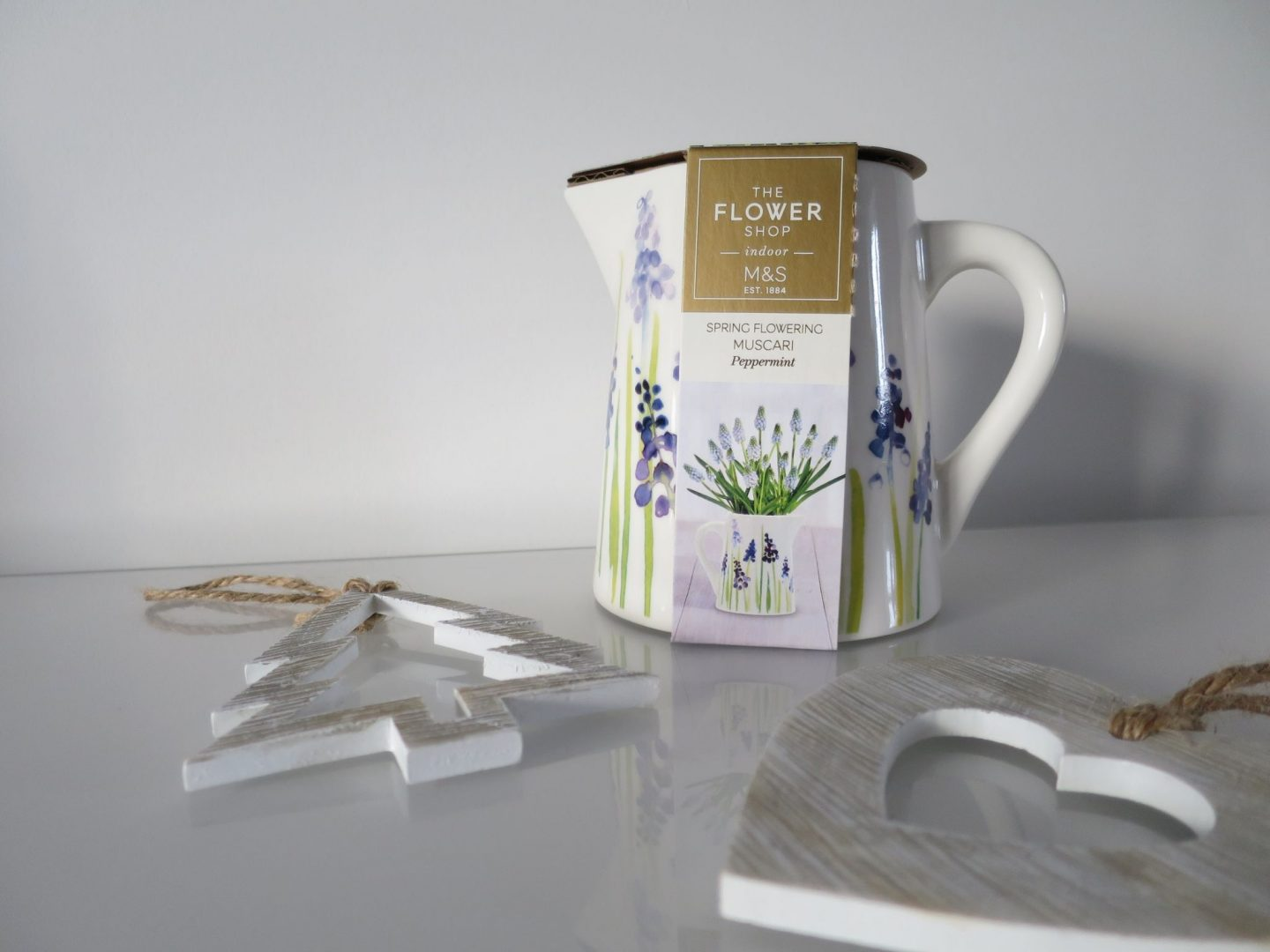 Marks and Spencer Flower Jug with Bulb Inside